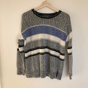 vince. | marled knit striped sweater